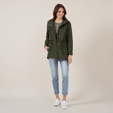 LIGHT WEIGHT UTILITY ANORAK  KHAKI  hi-res
