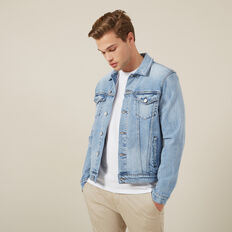 STRETCH DENIM JACKET  LIGHT WASH  hi-res