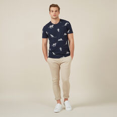 CHEETAH YARDAGE T-SHIRT  MARINE BLUE  hi-res