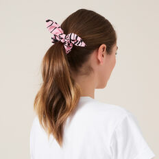 TIGER HAIR SCRUNCHIE  PINK  hi-res