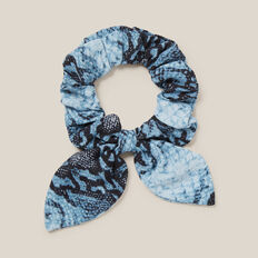 BLUE SNAKE HAIR SCRUNCHIE  BLUE SNAKE  hi-res