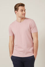 CLASSIC CREW NECK T-SHIRT  DUSTY PINK  hi-res