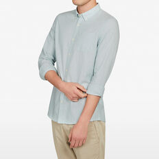 MINT MELANGE CUSTOM FIT SHIRT  MINT MELANGE  hi-res