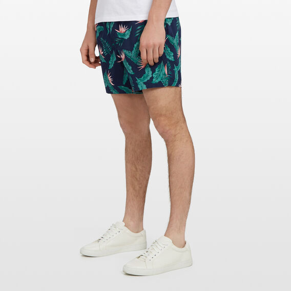 FLORAL ELASTICATED SHORT  BLUE FLORAL  hi-res