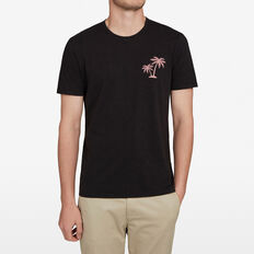 ORCHID PALMS T-SHIRT  WASHED BLACK  hi-res