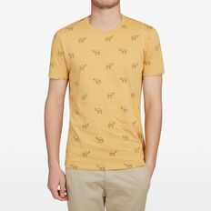 WALKING CAMEL T-SHIRT  WASHED GOLD  hi-res
