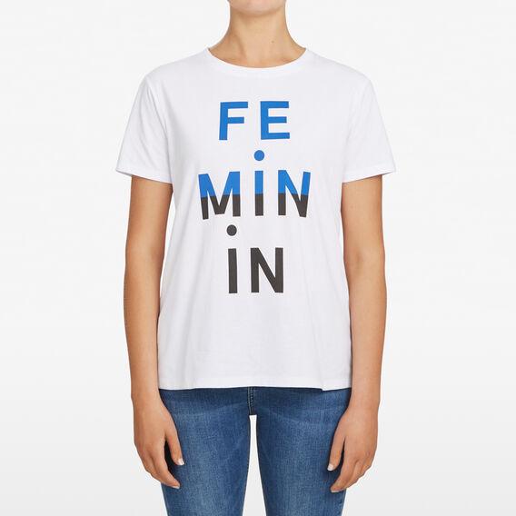 FEMININE TEE  SUMMER WHITE/NOCTURN  hi-res