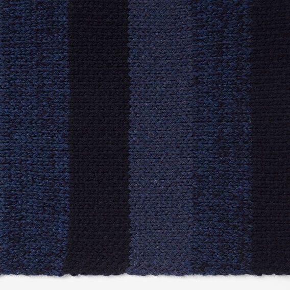 STRIPE KNITTED SCARF  BLUE STRIPE  hi-res