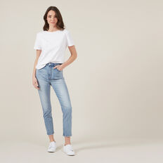 HIGH WAIST VINTAGE JEANS  LIGHT VINTAGE  hi-res