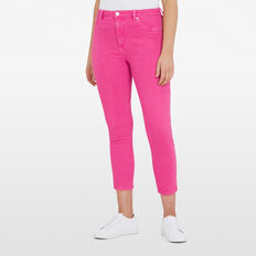 ANTIQUE DYE CROP JEAN  FUCHSIA  hi-res