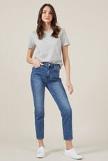 HIGH WAIST MID VINTAGE JEAN  MID WASH  hi-res
