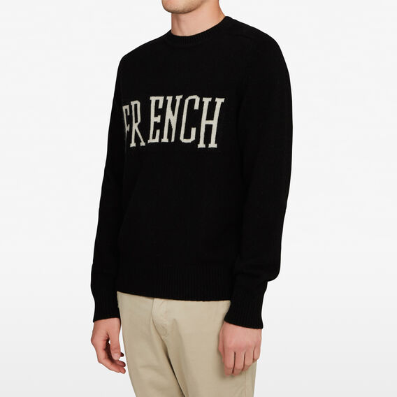 FRENCH INTARSIA KNIT  BLACK  hi-res