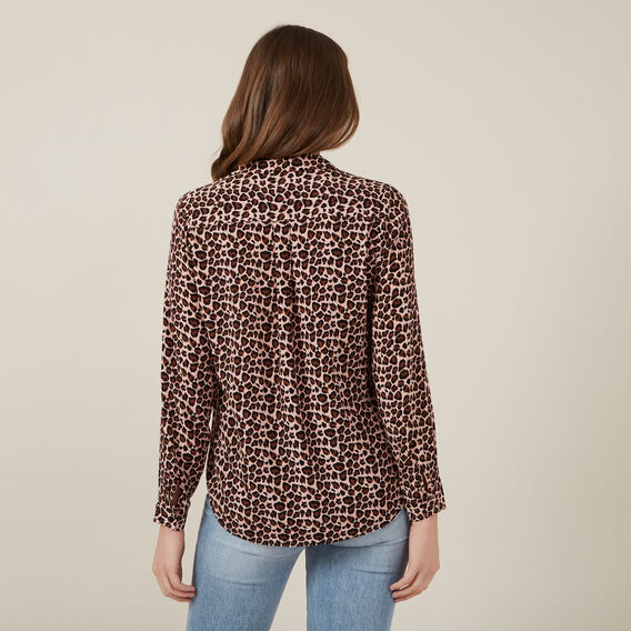 BLUSH ANIMAL PRINT SHIRT  BLUSH/MULTI  hi-res