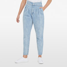 HIGHWAIST TUCK JEANS  LIGHT VINTAGE  hi-res