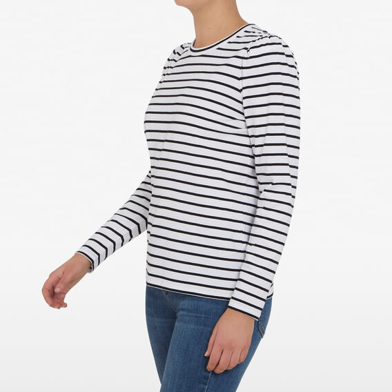 STRIPE PUFF SLEEVE TEE  BLACK/WHITE  hi-res