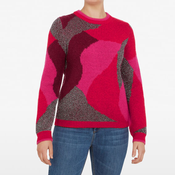 INTARSIA LUREX KNIT  MULTI  hi-res