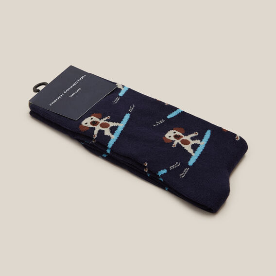 DOG SURFING 1PK SOCKS  MARINE BLUE  hi-res