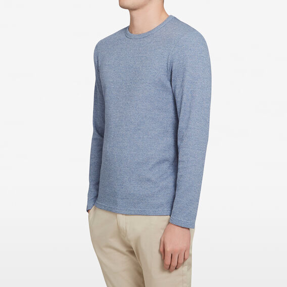WAFFLE LONG SLEEVE T-SHIRT  MID BLUE  hi-res