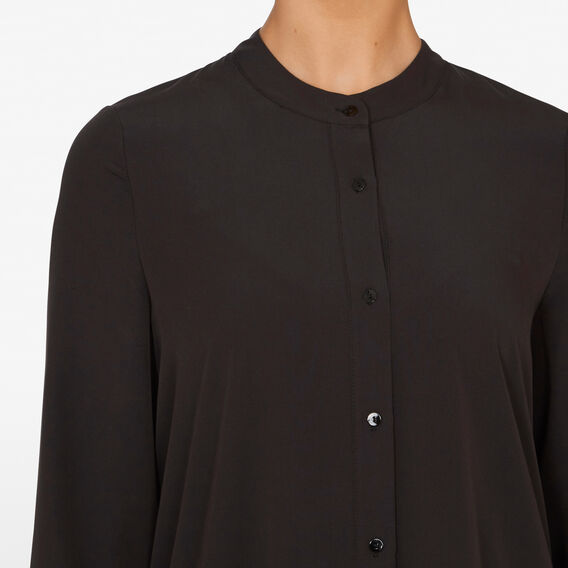 BUTTON FRONT BABYDOLL DRESS  BLACK  hi-res