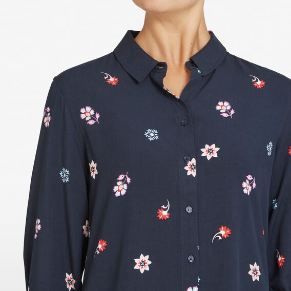 WINTER MINI BLOOMS CORE SHIRT  NAVY/MULTI  hi-res