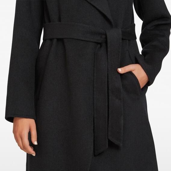 WINTER WRAP COAT  BLACK  hi-res