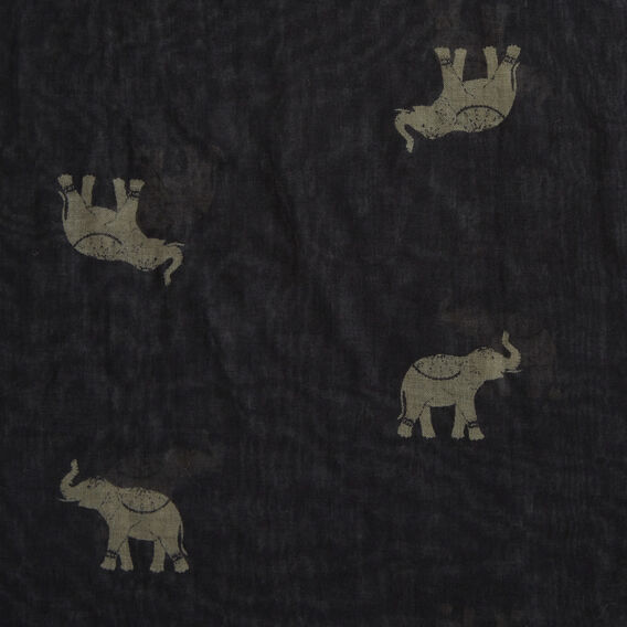 ELEPHANT POM SCARF  BLACK/MULTI  hi-res