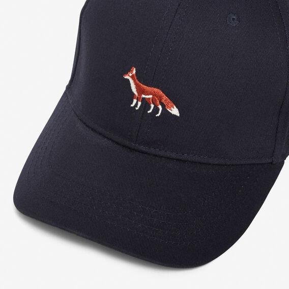 EMBROIDERED FOX CAP  MARINE BLUE  hi-res