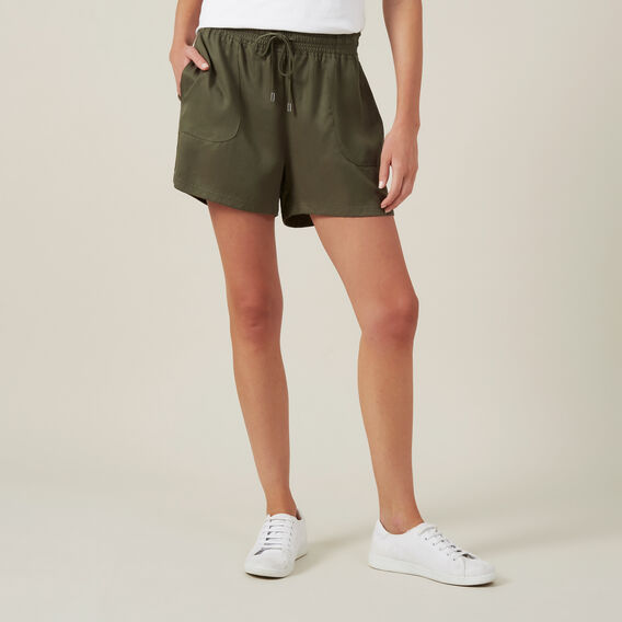 TENCEL SHORT  KHAKI  hi-res