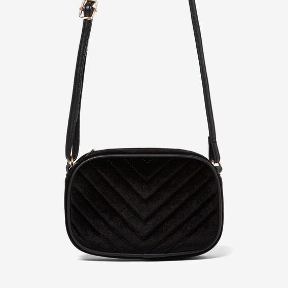 VELVET SHOULDER BAG  BLACK  hi-res