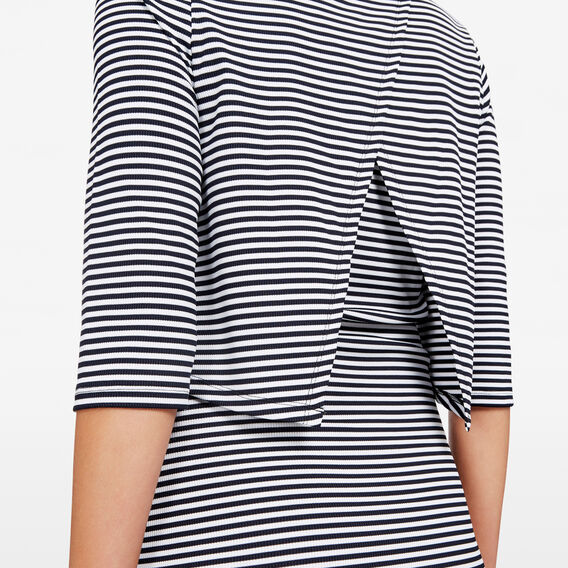 STRIPE DOUBLE LAYER DRESS  SUMMER WHITE/NOCTURN  hi-res