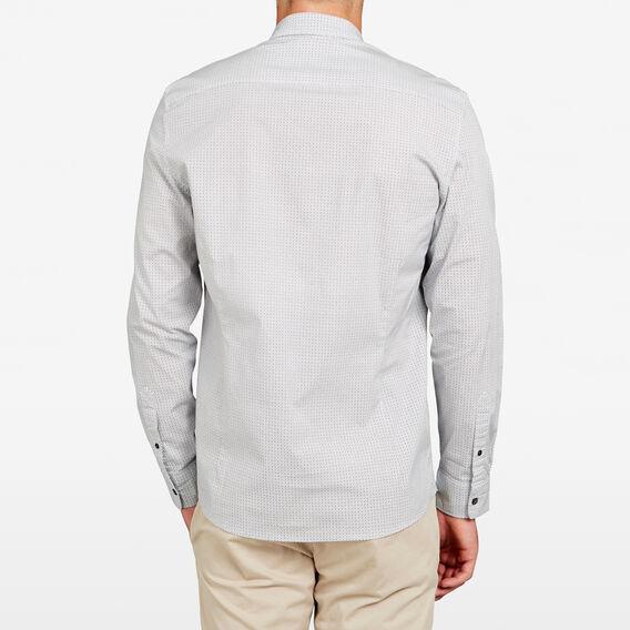 GEO PRINT SLIM STRETCH SHIRT  WHITE  hi-res