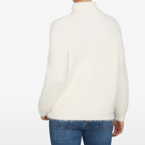 CREAM ROLL NECK KNIT  CREAM  hi-res