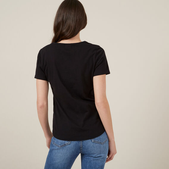 ESSENTIAL SCOOP NECK TEE  BLACK  hi-res