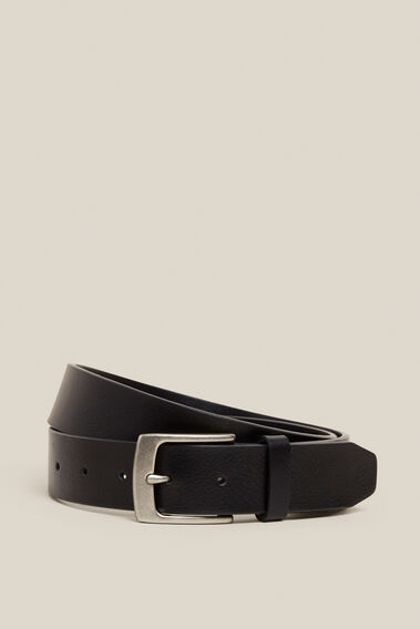 CLASSIC LEATHER BELT  BLACK  hi-res
