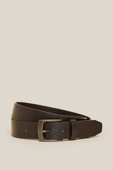 CLASSIC LEATHER BELT  DARK TAN  hi-res