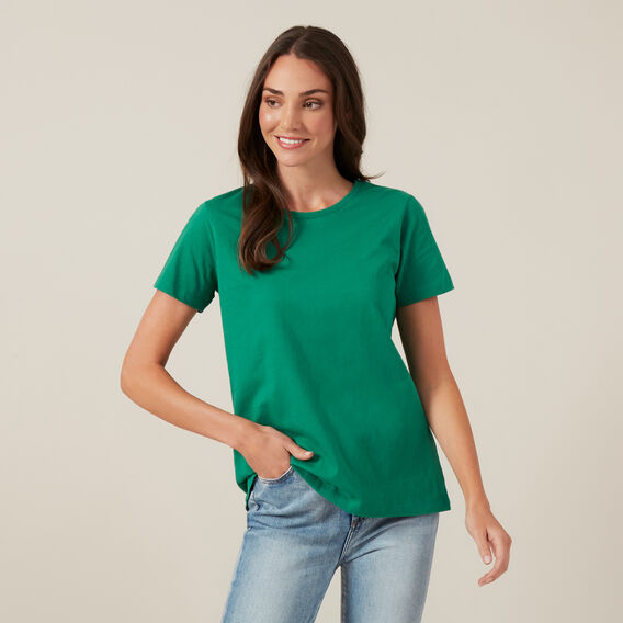 NEO ESSENTIAL CREW NECK TEE  SPRING GREEN  hi-res