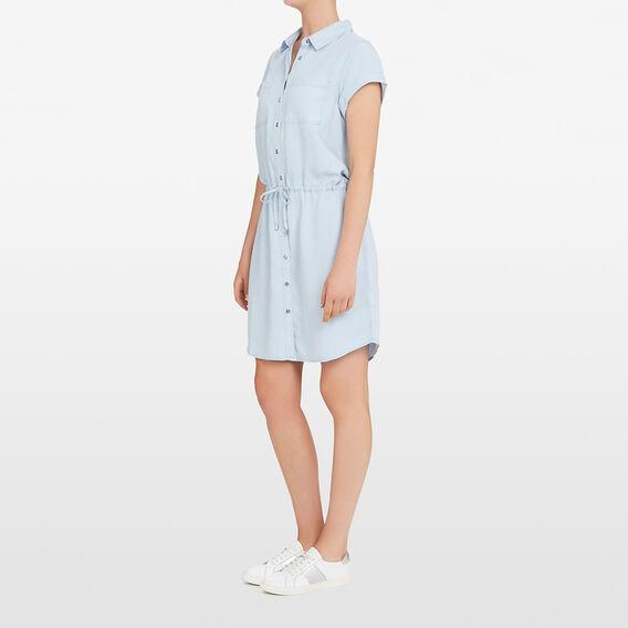 TENCEL SHIRT DRESS  CHAMBRAY  hi-res