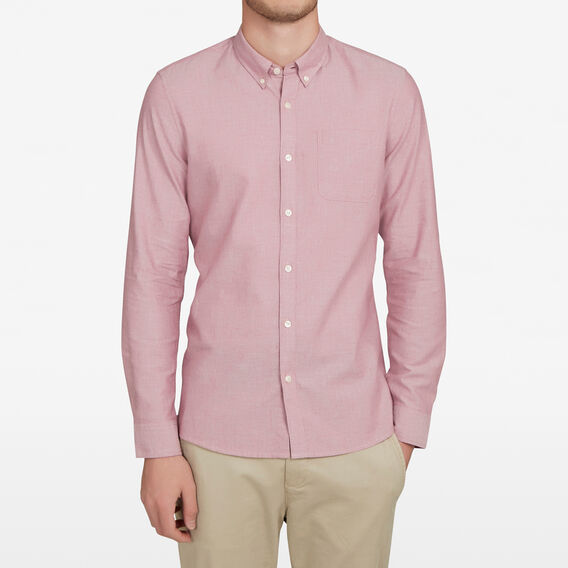BERRY MELANGE CUSTOM FIT SHIRT  BERRY MELANGE  hi-res