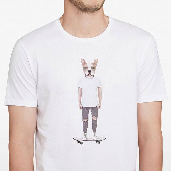 SKATER DOG T-SHIRT  WHITE  hi-res
