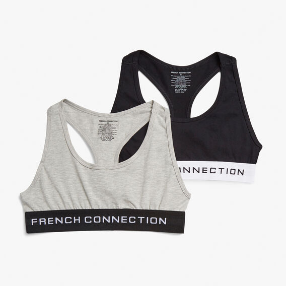 2 PACK CROP TOP  LIGHT GREY MEL/BLK  hi-res