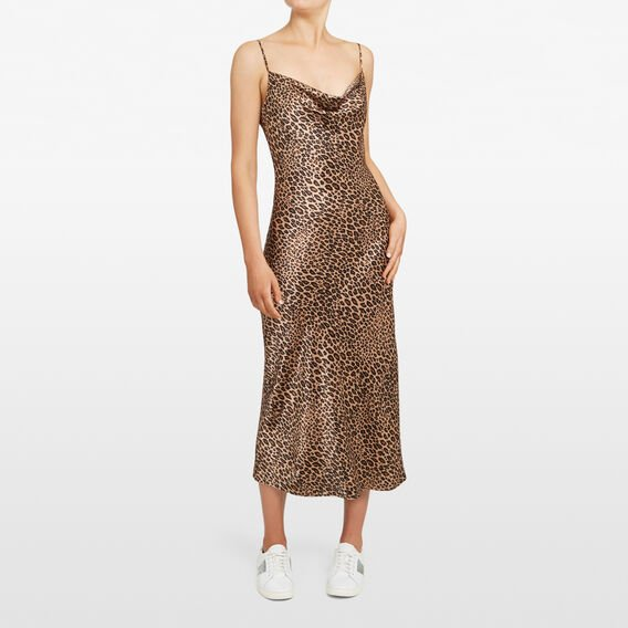 ANIMAL PRINT SLIP DRESS  MULTI  hi-res