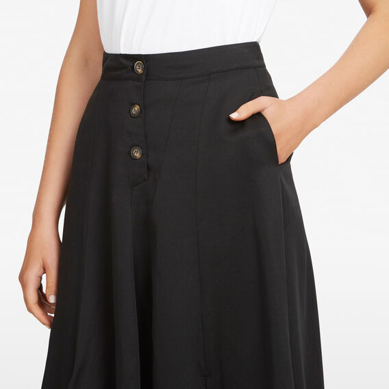 FULL MIDI SKIRT  BLACK  hi-res