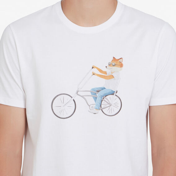 BIKING FOX T-SHIRT  WHITE  hi-res