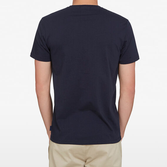 DUCK EMBROIDERED T-SHIRT  MARINE BLUE  hi-res