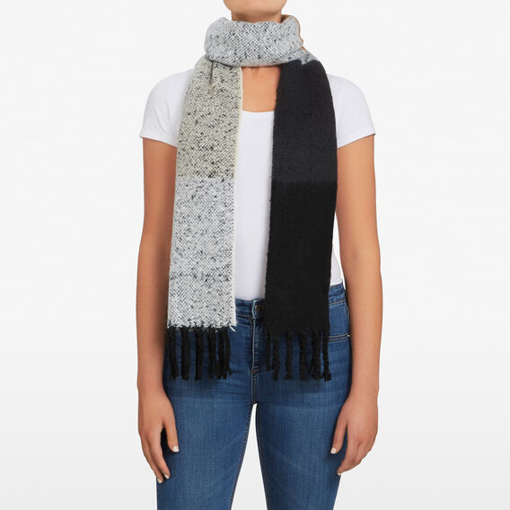FLUFFY STRIPE SCARF  MULTI  hi-res