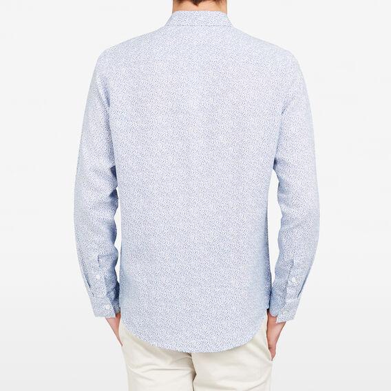 LINEN REGULAR FIT SHIRT  BLUE FLORAL  hi-res