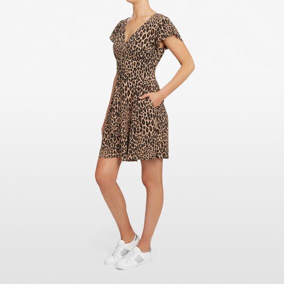 ANIMAL PRINT TEA DRESS  MULTI  hi-res