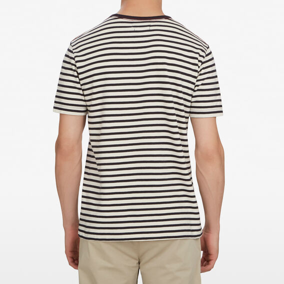 STRIPED FRENCH T-SHIRT  WHITE/UTILITY BLUE  hi-res