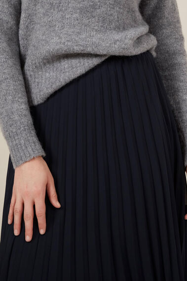 NAVY PLEAT SKIRT  NAVY  hi-res