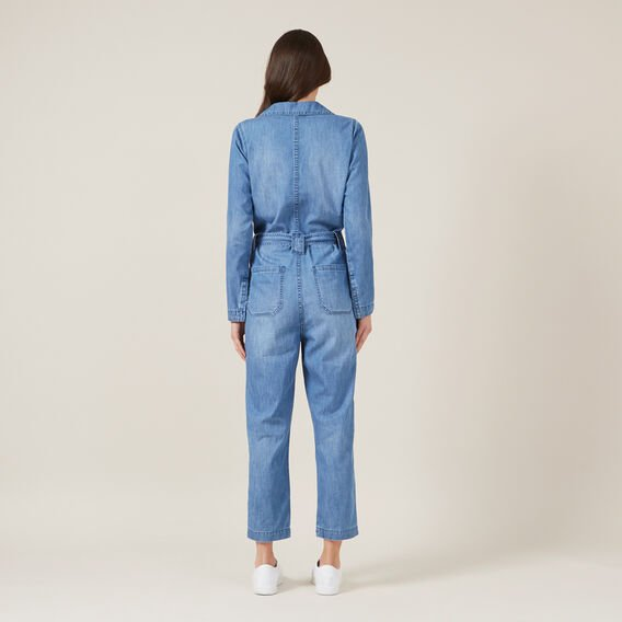 DENIM BOILER JUMPSUIT  BLUE  hi-res
